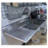SS 3 COMPARTMENT SINK, 27 X 96, FAUCET