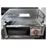 STAR roller grill with glass sneeze guard