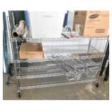 Chrome Shelving Unit/18x48x40/On Wheels