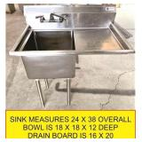 SS prep sink with faucet (JUST ADDED)
