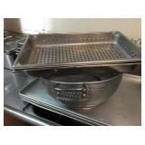 SS PANS AND COLANDER