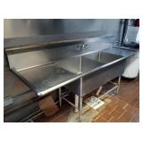 SS 2 COMPARTMENT SINK