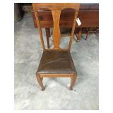 Oak T Back chair