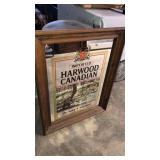 Hardwood Canadian Whiskey Mirror