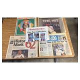 Pete Rose & Mark McGwire News Papers