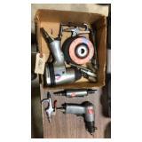 Box of Pneumatic Tools & Cutt Off Wheels