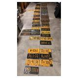 57 New York License Plates from 1914-1964