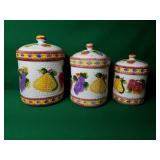 Three Kitchen Canisters