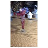 Rose Colored Glass Vase