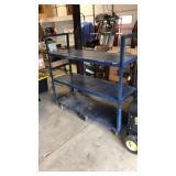 3 Tier Blue Rolling Cart