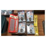 5- Adjustable Sockets, 2- SAE Drill Gauges,