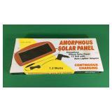 Amorphous Solar Panel- 12 w/ Auto Adapter