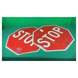 2- Metal Stop Signs