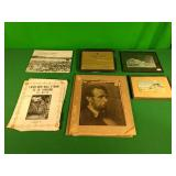 Pictures, books, sheet music, smoking permit
