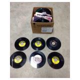 Box of 45 records