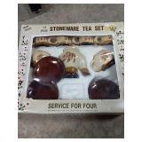 Stoneware kids tea set