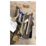 Tote With Concrete Trowels