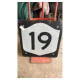 Route19 Metal Road Sign