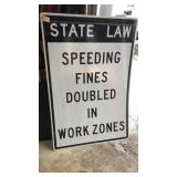 State Law Speeding Metal Road Sign