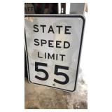 State Speed Limit 55 MPH Metal Road Sign