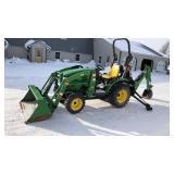John Deere 2320 Compact Tractor W/ Backhoe (Nice)