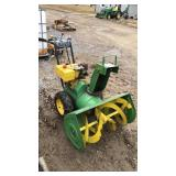 John Deere Model 1032 Snow Blower W/Chains