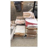 Pallet of ceramic tile various sizes
