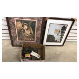 2 Picture Frames and A Box With Stencils