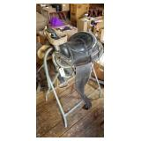 Western Saddle w/ Stand - Stirrup Needs Repair
