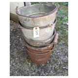 Assorted Metal Pails