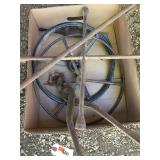 Old Steering Wheels, 4 Way Wrench, Tire Chain Plrs