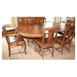 Empire Style Dining Room Table And Chairs (3 of 4)