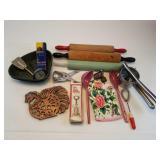 Assortment Of Rolling Pins, Kitchen Utensils, Etc.
