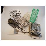 Lot Of Miscellaneous Metal Racks, Baskets Etc.