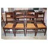 Set of 4 Cane Seat Chairs