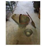 Ash Bucket & Shovel.  Small Bucket
