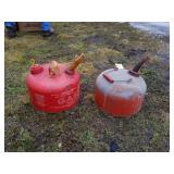 2 1/2 Gal. & 2 Gal. Metal Gas Cans