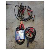 Assortment Of Spark Plugs, Jumper Cables, etc.