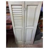 Beige 4 Panel Window Shutters