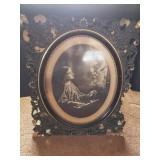 Vintage Art With Wooden Frame (As Is)