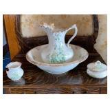 Semi Virtuous Porcelain Pitcher Bowl Set