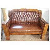 Leather Empire Style Couch (1 of 3 Pcs.)