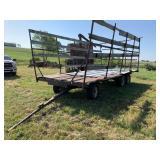 Nice HD 6 Wheel Hay Wagon W/Metal Rack