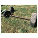 Axle With Electric Brakes & 2 Wheels