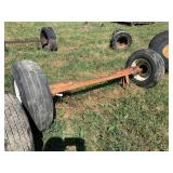 Axle Wtih 2 - 5 Hole Implement Tires & Wheels