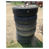 Set of 6 Tires & Rims For 1987 Ford F-350