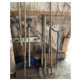 10 Asst. Lawn & Garden Tools - Shovel, Rakes