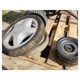 2 Small & 2 Medium Mower Tires