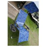 NEW BLISJ LAWN CHAIR W/ CANOPY & CUP HOLDER