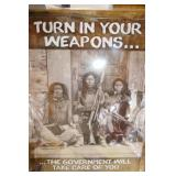 METAL SIGN (TURN IN YOUR WEAPONS)